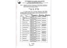 Covid J&K: Designation of numbers of Chairpersons of Child Welfare Committees
