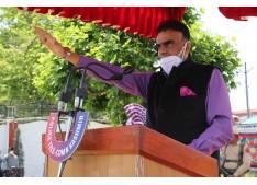 Danesh Rana led Officers and personnel in taking Anti Terrorism pledge at PHQ Srinagar
