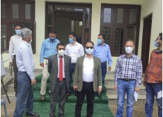 Director SAMAGRA  Deep Raj visits Baramulla; Issues Directions to Officers to finish works at earliest