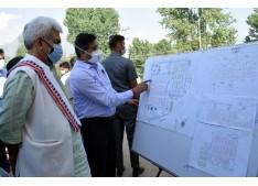 Lt Governor visits DRDO's 500-bedded under-construction Covid Hospital at Srinagar