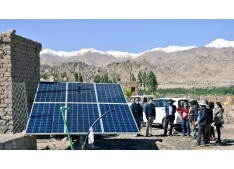 DC Leh visit Diskit Ling, Agling to evaluate the status of solar pumps/pipeline/borewells