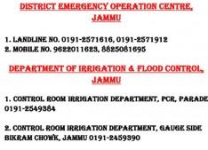 Govt issues District Jammu Flood  Helpline