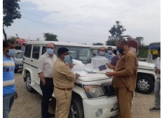 RTO Kathua challans vehicles for violating MV Act