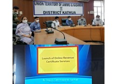 DC Kathua launches Online Services for issuance of Certificates