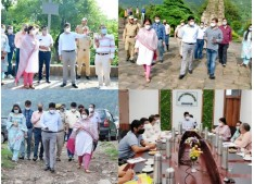 UEED officials reprimanded for slow pace of execution works by DivCom Jammu