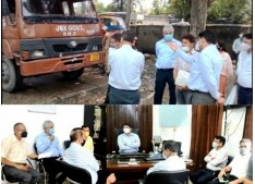 Div Com directs JDA and Tehsildar to take action against the illegal encroachments