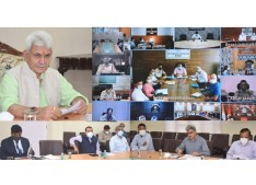 Lt Governor reviews Covid scenario in series of meetings with Covid Task Force, DCs, SPs