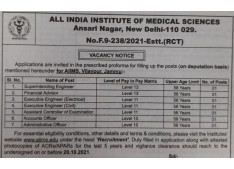 Application invited for various posts in AIIMS Jammu