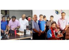 CEO SMVDSB Ramesh Kumar felicitates Tokyo Paralympics Participants; Inaugurates Shooting Ranges
