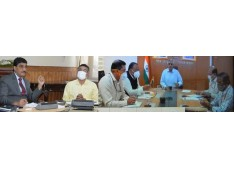 Chief Secretary, Secreatary MoRTH review Road Sector Projects under PMDP in J&K