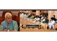 Lt Governor Manoj Sinha in Delhi, attends LG's conference