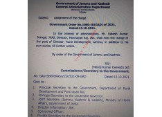 Sarangal gets additional charge of Director, RD&PR